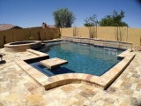 Tuscany Scabas travertine paver San jose pool and outdoor stones