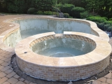 Tuscany walnut travertine pool coping stone pavers Mill Valley Bay Area