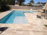 Walnut Travertine Outdoor Pavers Versailles Pattern Tumbled 3 CM
