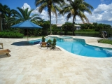 Walnut Travertine Pavers French Pattern Tumbled