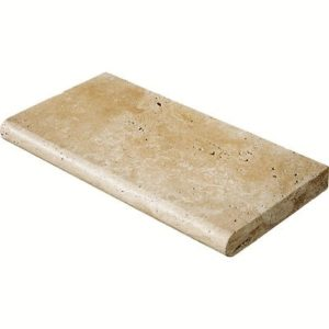 Walnut Travertine Pool Coping (Bullnose)
