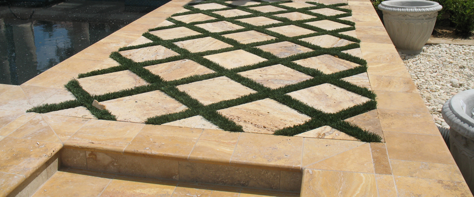 Gold tumbled travertine pavers tuscany riviera pavers 16x16 deck material list