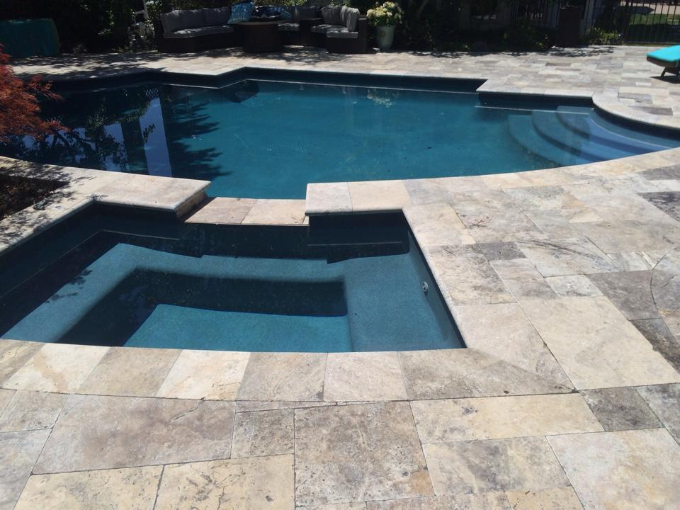 silver travertine tumbled pavers | natural stone us