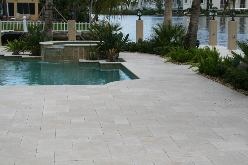 Pearl Marble Pavers Tumbled Pattern