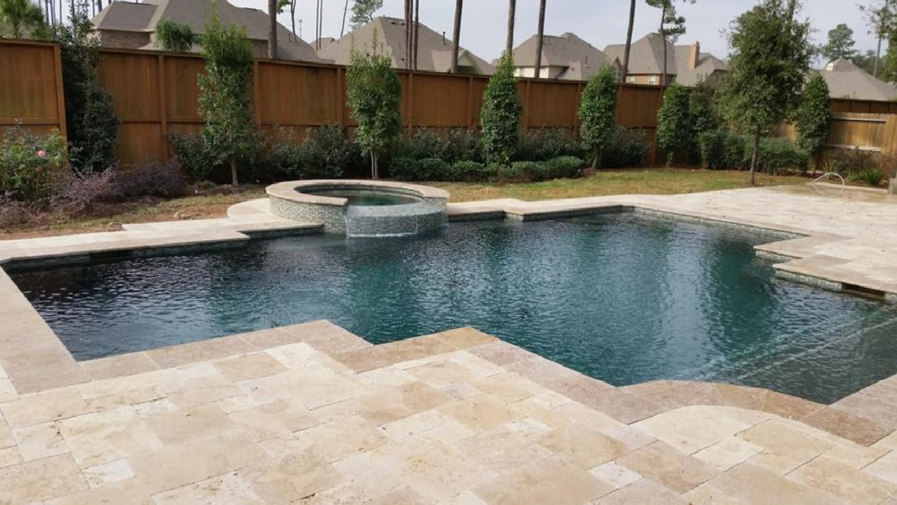 Travertine Pool Pavers Tuscany Blend Travertine Pavers French Pattern  Natural Stone Us