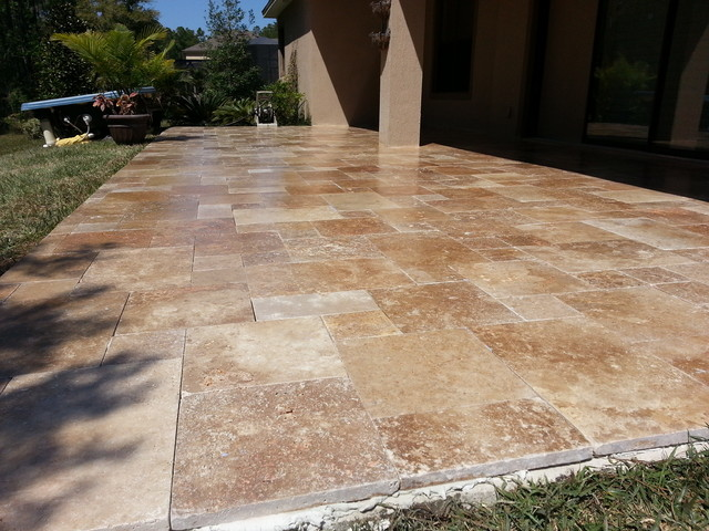 Noce travertine outdoor patio stone pavers san ramon