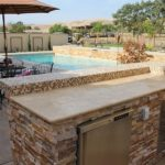 Golden white stacked stone veneer panels Oxnard California