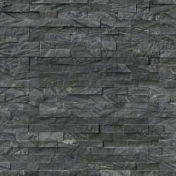 Glacial Black Stacked Stone Panel