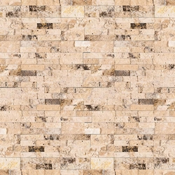 Philadelphia Travertine Stacked Stone Ledger