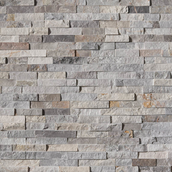 Sunset Silver Stacked Stone Panel