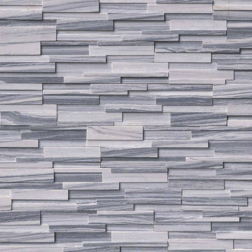 Alaska Gray 3D Honed Stacked Stone Panels