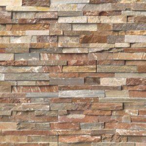 Golden White Stacked Stone ledger panels sale