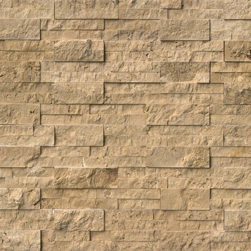 Noche Travertine Stacked Stone Panels