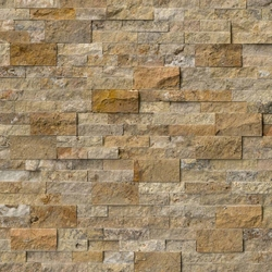 Scabos Travertine Stacked Stone Panels