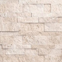 Ivory Travertine Stacked Stone Ledger Veneer Panels