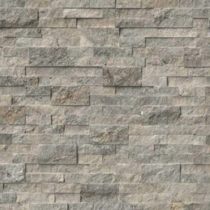 Silver Travertine Stacked Stone Panel Ledger
