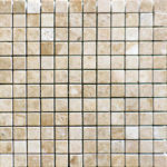 1x1 Cappuccino Polished Marble Mosaic