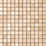 1x1 Ivory Tumbled Travertine Mosaic