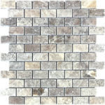 "1""x2"" Silver Travertine Mosaic"