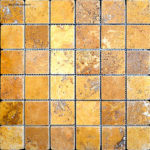 "2""x2"" Gold Travertine Mosaic"
