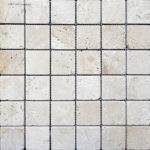 "2""x2"" Ivory Travertine Mosaic"
