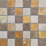"2""x2"" Mixed Travertine Mosaic"