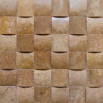 "2""x2"" Noce Wavy Travertine Mosaic"