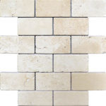 "2""x4"" Ivory Travertine Mosaic"