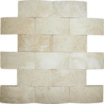 "2""x4"" Ivory Wavy Travertine Mosaic"