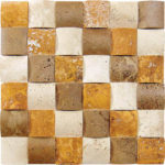"2""x2"" Mixed Wavy Travertine Mosaic"