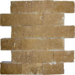 "2""x4"" Noce Split Face Travertine Mosaic"