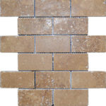 "2""x4"" Noce Travertine Mosaic"