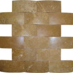 "2""x4"" Noce Wavy Travertine Mosaic"