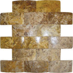 "2""x4"" Scabos Wavy Travertine Mosaic"