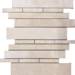 Ivory Travertine Random Insert Mosaic