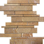 Noce Travertine Random Insert Mosaic