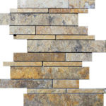 Scabos Travertine Random Insert Mosaic
