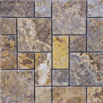 Scabos Travertine Tumbled Mini Pattern Mosaic